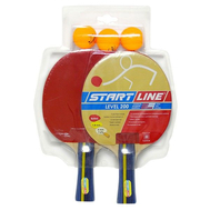 Набор теннисный START LINE LEVEL 200 (2 ракетки, 3 мяча), фото 1