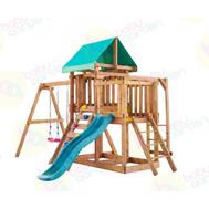 Игровая площадка BABYGARDEN с балконом, рукоходом, скалолазкой и горкой 1.8 м, фото 1