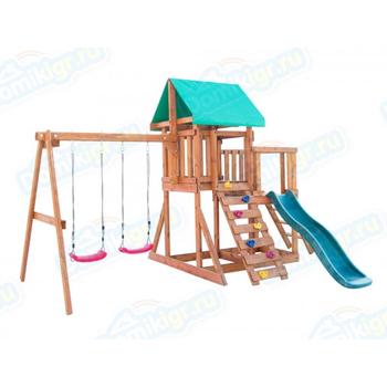 Игровая площадка BABYGARDEN с балконом, скалолазкой и горкой 1.8 м, фото 2