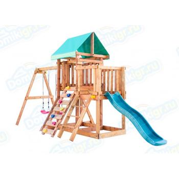 Игровая площадка BABYGARDEN с балконом, скалолазкой и горкой 1.8 м, фото 3