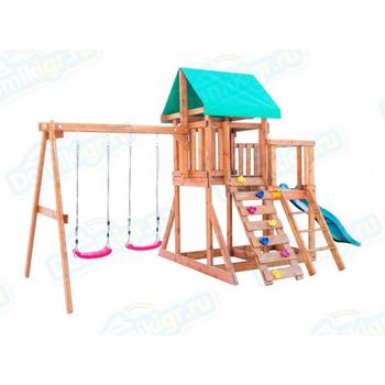 Игровая площадка BABYGARDEN с балконом, скалолазкой и горкой 1.8 м, фото 4