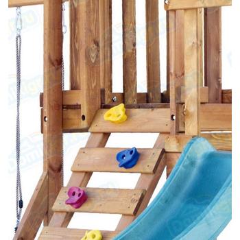 Игровая площадка BABYGARDEN с балконом, скалолазкой и горкой 1.8 м, фото 5